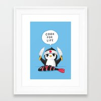 chef Framed Art Prints featuring Penguin Chef by Freeminds