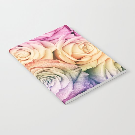 Some people grumble- Colorful Roses- Rose pattern Notebook