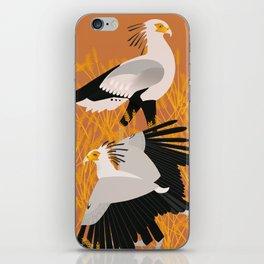 Secretary bird iPhone Skin