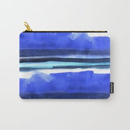 Wave Stripes Abstract Seascape Carry-All Pouch