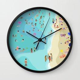 Amalfi coast beach art print Wall Clock