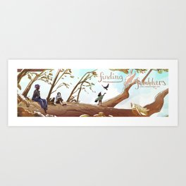 Finding Feathers Art Print