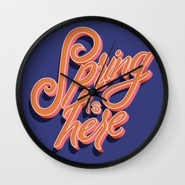 Spring is Here 004 Wall Clock