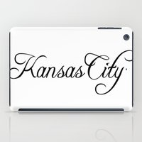 kansas city iPad Cases featuring Kansas City by Blocks & Boroughs