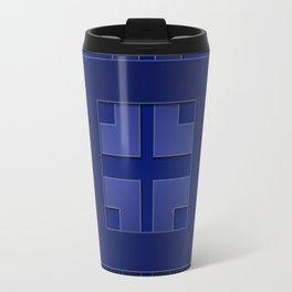 Indigo , blue Travel Mug