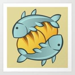Loaves and Fishes I Art Print