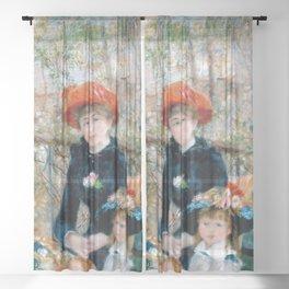 Pierre-Auguste Renoir - Two Sisters Sheer Curtain