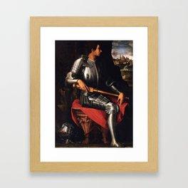 Lorenzo Medici in armor Framed Art Print