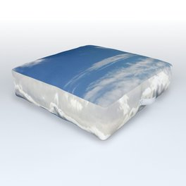 Windy Day Sky Outdoor Floor Cushion