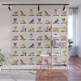 French Bulldog Yoga Watercolor Wall Mural