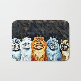 "Louis Wain's Cats ""Five Cats"" Bath Mat"