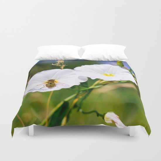 Wasp On A Flower Duvet Cover