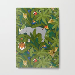 Animals in the Jungle Metal Print