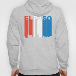 Red White And Blue El Paso Texas Skyline Hoody