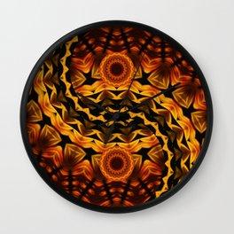 Brown Yin a Yang Wall Clock