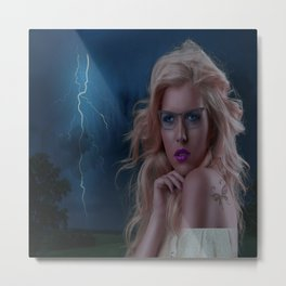 Brave the storm Metal Print