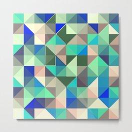 Geometric cold patttern Metal Print