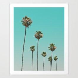 palm trees. las palmeras Art Print