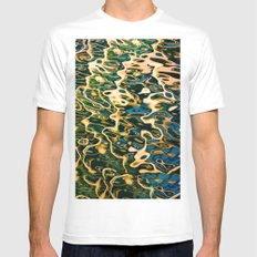 Water reflection White Mens Fitted Tee MEDIUM