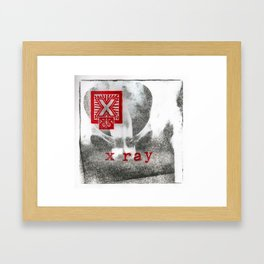 X is for x-ray Framed Art Print