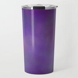 Abstract Soft Watercolor Gradient Ombre Blend 14 Dark Purple and Light Purple Travel Mug