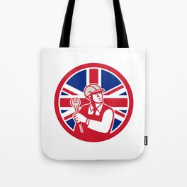 British Engineer Union Jack Flag Icon Tote Bag