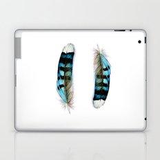 Blue Jay Feather Twins Laptop & iPad Skin