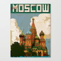 moscow Canvas Prints featuring Moscow  by Nick's Emporium Gallery