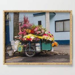 Flower Cart in Mexico City Serving Tray