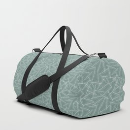 Laurel leaves sketch (green background) Duffle Bag