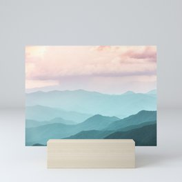 Smoky Mountain National Park Sunset Layers II - Nature Photography Mini Art Print