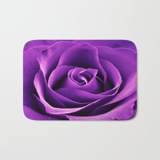 Purple Passion Rose Bath Mat
