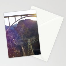 Hoover Dam Electicity Towers Stationery Cards