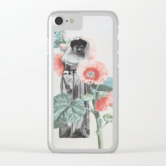 Botanical Bride Clear iPhone Case