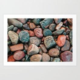 Pebbles of Isle of Skye Art Print
