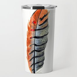 Dotted & Striped Feathers Travel Mug