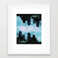 houston Framed Art Prints featuring Houston, by LUCJPG