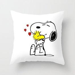 snoopy love woodstock Throw Pillow