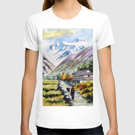 Long Walk By The Mountain T-shirt