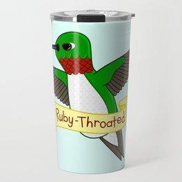 Ruby-Throated Hummingbird Travel Mug