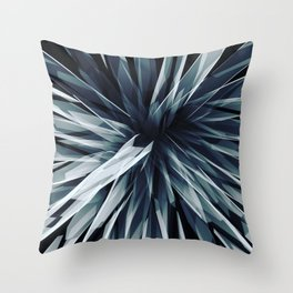 Perspective Facets-Retro Blue Throw Pillow