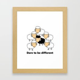 Dare To Be Different Black Sheep Framed Art Print