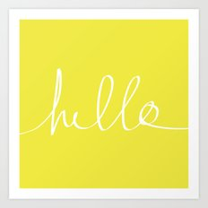 Hello x Sunshine Art Print
