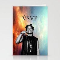 asap rocky Stationery Cards featuring Asap Rocky V.S.V.P by Christopher Leonetti