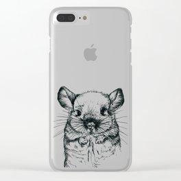 Chinchilla my love Clear iPhone Case