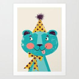 Blue-beary Art Print
