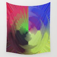 record Wall Tapestries featuring Global Record by writingoverashes