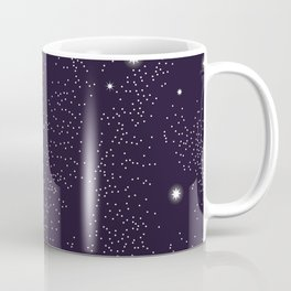 Universe with planets and stars seamless pattern, cosmos starry night sky 005 Coffee Mug