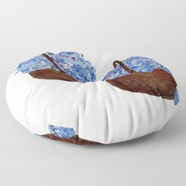 Two Baskets of Hydrangea Love Floor Pillow