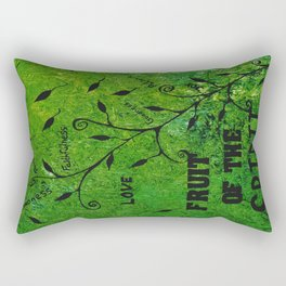 Faith Religious Art---Fruit of the Spirit---Bible Scripture Galations 5:22 by Saribelle rodriguez Rectangular Pillow